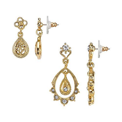 Downton Abbey Teardrop Earring Set