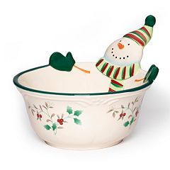 Pfaltzgraff Winterberry 7-in. Snowman  Bowl
