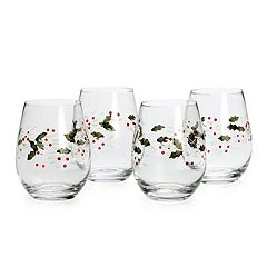 Pfaltzgraff Winterberry 4-pc. Stemless Wine Glass Set
