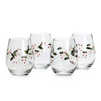 Pfaltzgraff Winterberry 4-pc. Stemless Wine Glass Set