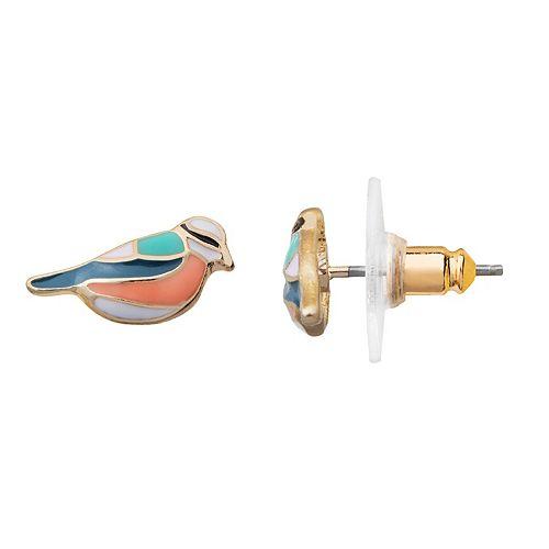 LC Lauren Conrad Bird Stud Earrings