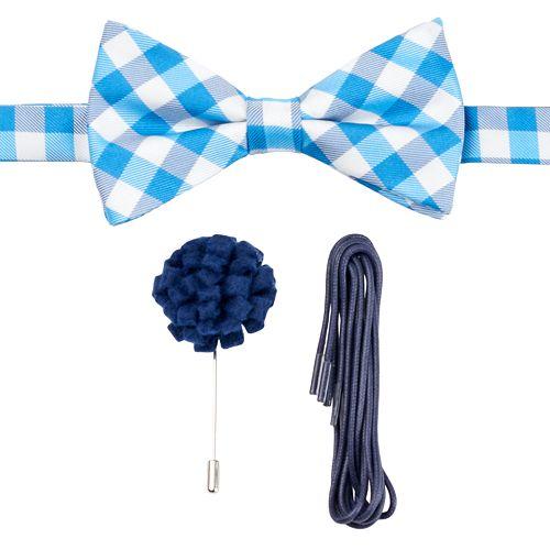 2828658f5b5f IZOD Gingham Plaid Pretied Bow Tie 3-piece Style Kit - Men