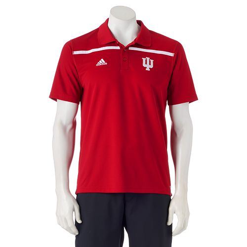 Men's adidas Indiana Hoosiers Sideline Coaches Polo