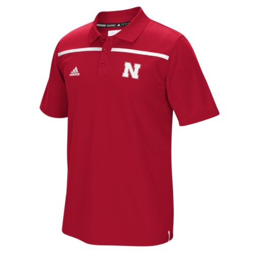 Men's adidas Nebraska Cornhuskers Sideline Coaches Polo