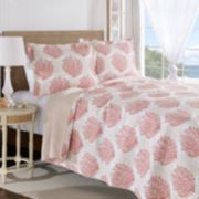 Laura Ashley Lifestyles Coral Coast Reversible Quilt Set