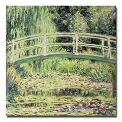 Trademark Fine Art ''White Nenuphars'' Canvas Wall Art by Claude Monet