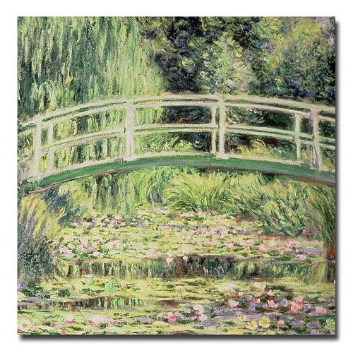 Trademark Fine Art ''White Nenuphars'' Canvas Wall Art by Claude Monet