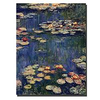 Trademark Fine Art ''Water Lilies 1914'' Canvas Wall Art by Claude Monet