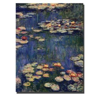 Trademark Fine Art ''Water Lilies 1914'' Canvas Wall Art by Claude Monet