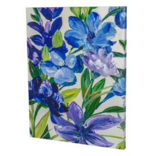 Essential Designs ''Blue and Purple Flowers'' Canvas Wall Art