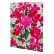 Essential Designs ''Fuchsia Flowers'' Canvas Wall Art