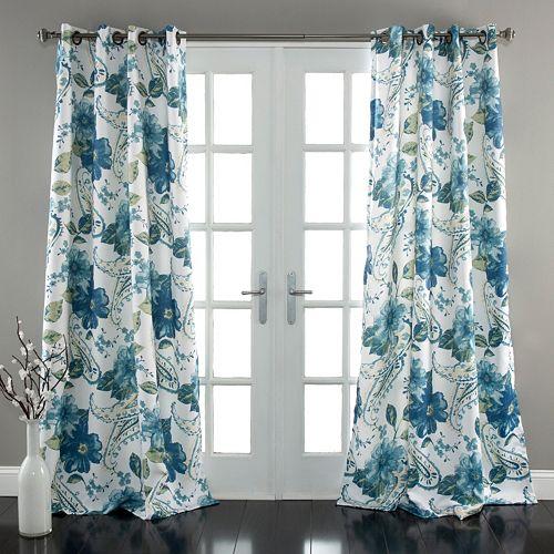 Lush Decor Floral Paisley Room Darkening Window Curtain Pair - 52'' x 84''