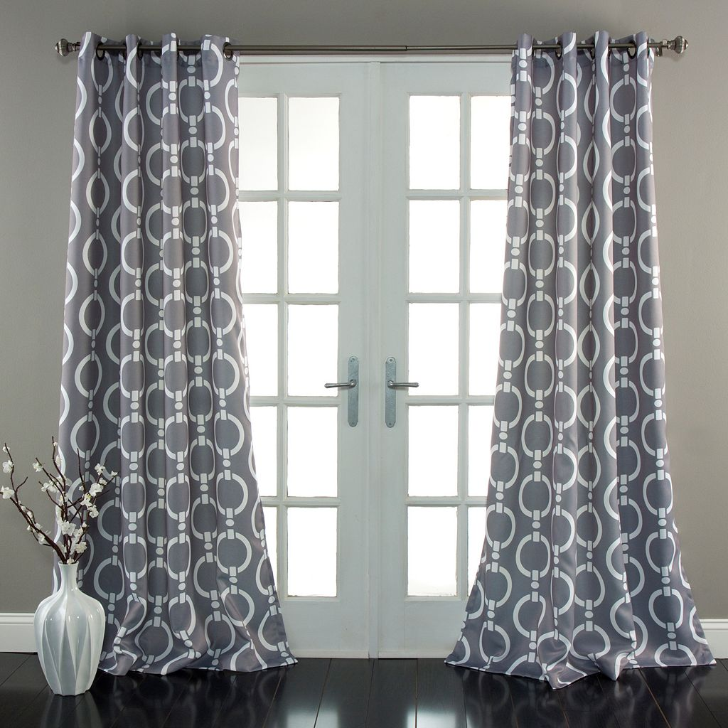 Lush Decor Chainlink Room Darkening Window Curtain Pair - 52'' x 84''
