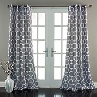 Lush Decor Chainlink Room Darkening Curtain Pair - 52'' x 84''