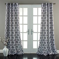 Lush Decor Chainlink Room Darkening Window Curtain Pair - 52'' x 84''