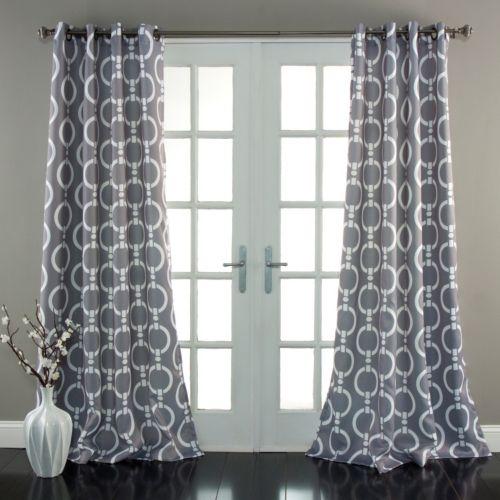 Lush Decor Chainlink Room Darkening Curtain Pair - 52'' x 84''