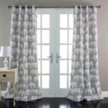 Lush Decor Elephant Parade Room Darkening Window Curtain Pair - 52'' x 84''