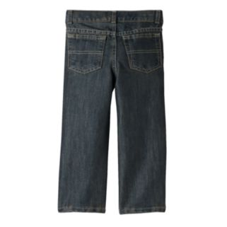 Toddler Boy Jumping Beans® Straight-Leg Dark Blue Jeans