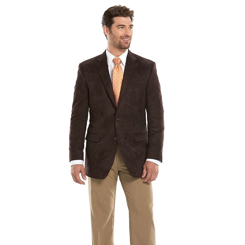 Men's Chaps Slim-Fit Brown Suede Sport Coat