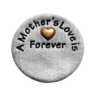 """Blue La Rue Silver-Plated & 14k Gold-Plated """"Mother"""" Coin Charm"""