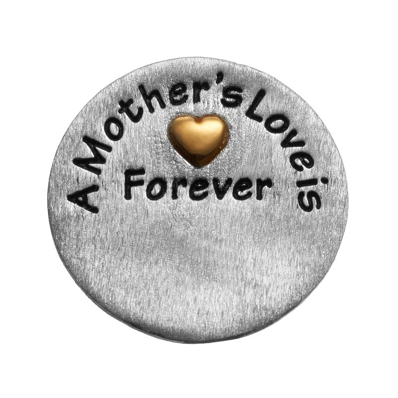 """Blue La Rue Silver-Plated & 14k Gold-Plated """"Mother"""" Coin Charm, Women's"""