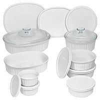 CorningWare French White 18-pc. Bakeware Set