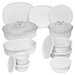CorningWare French White 18 pc Bakeware Set