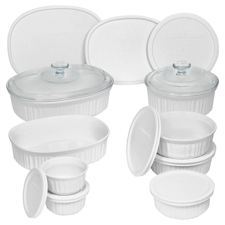 corningware french white 18pc bakeware set - Bakeware Sets