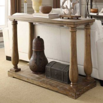 HomeVance Jefferson Driftwood Console Table