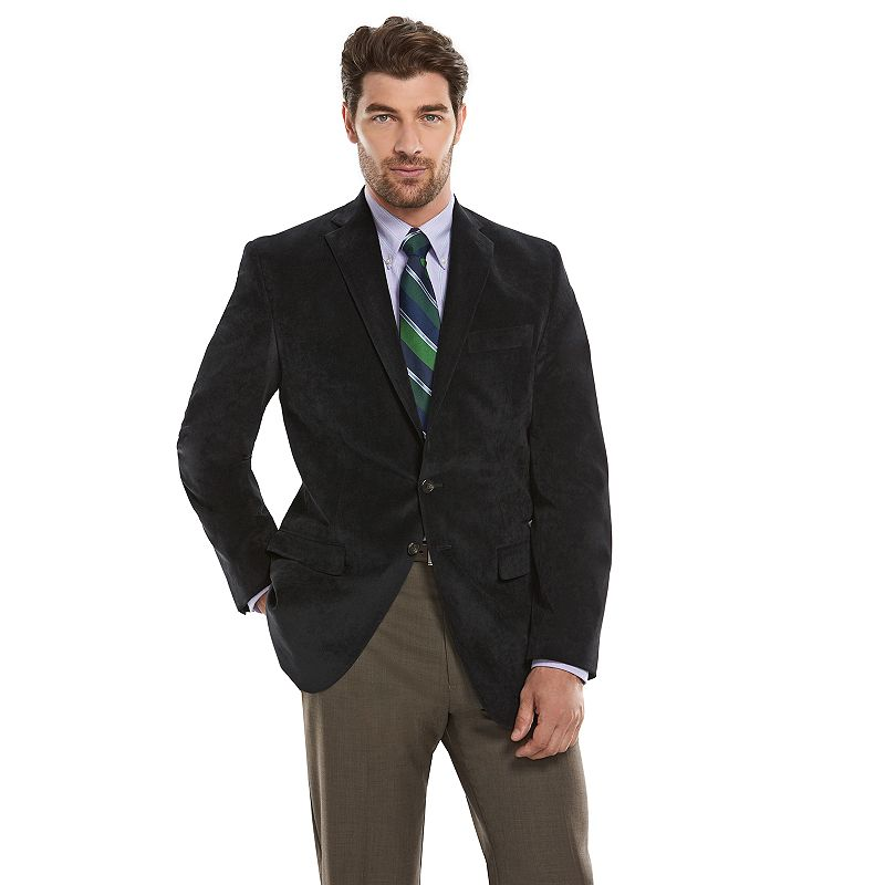 Men's Chaps Slim-Fit Black Corduory Sport Coat