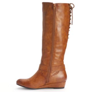 Kisses by 2 Lips Too Too Shake Women's Knee-High Wedge Boots