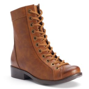 Kisses by 2 Lips Too Too Justify Women's Lace-Up Combat Ankle Boots