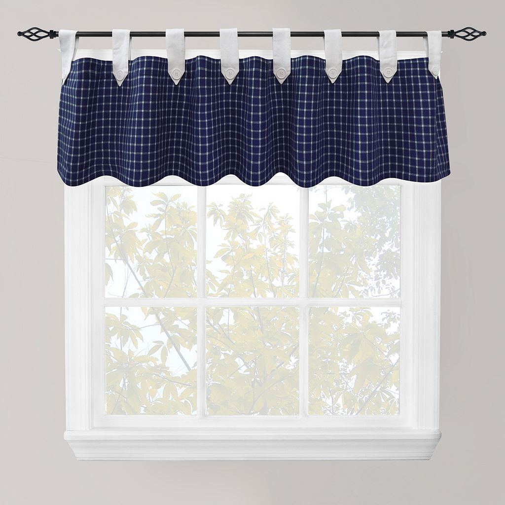 Park B. Smith Picnic Check Straight Window Valance - 60'' x 14''