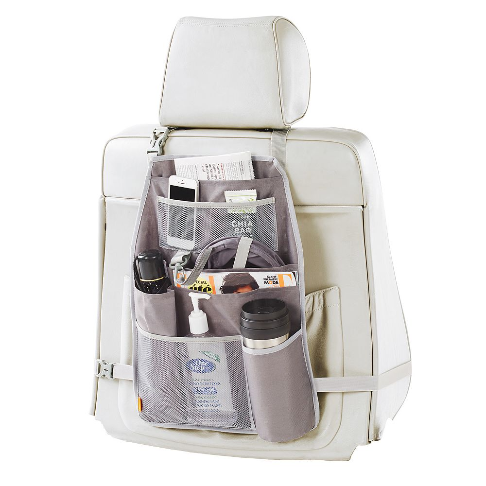 neatfreak everfresh Auto 8-Pocket Seat Back Organizer with Pop-Up Litter Bag