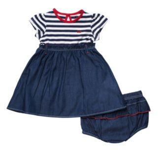Toddler Girl Lee Stripe Chambray Dress