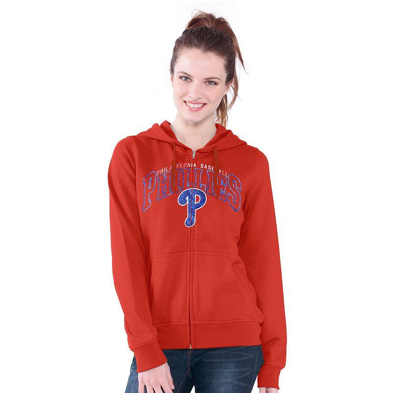 Philadelphia Phillies Wildcat Fleece Hoodie - Women's
