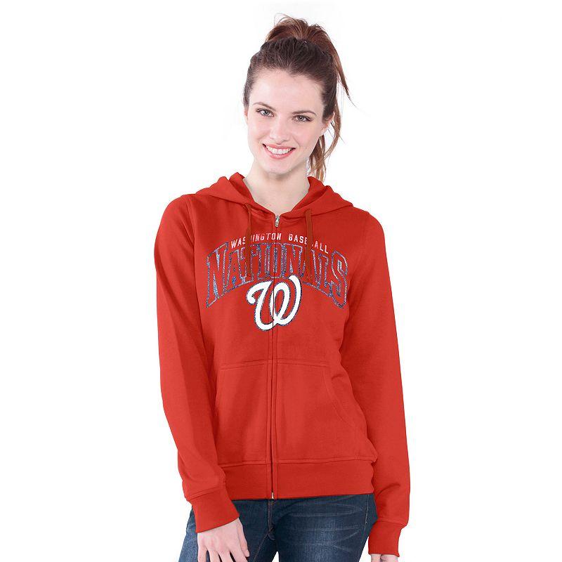 Washington Nationals Wildcat Fleece Hoodie - Women's