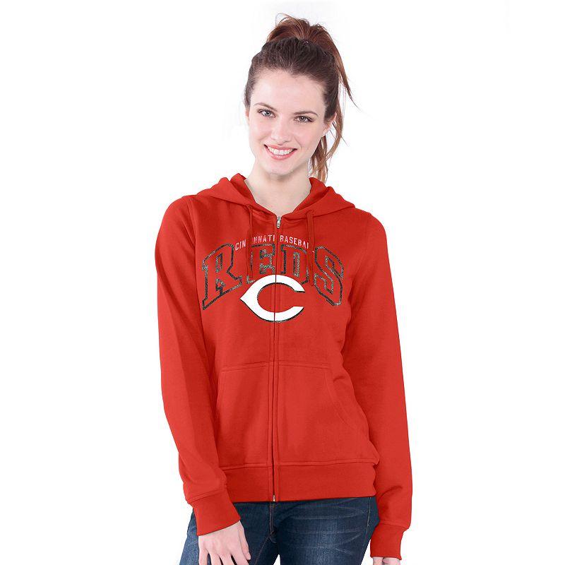 Cincinnati Reds Wildcat Fleece Hoodie - Women's
