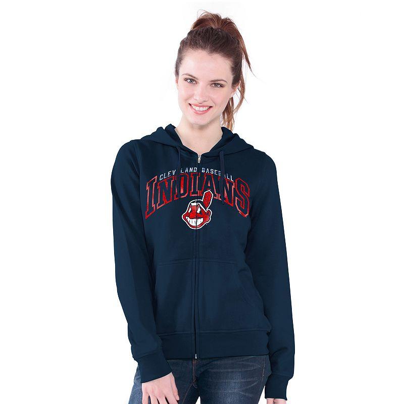 Cleveland Indians Wildcat Fleece Hoodie - Women's