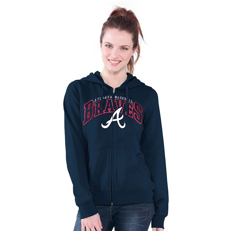 Atlanta Braves Wildcat Fleece Hoodie - Women's