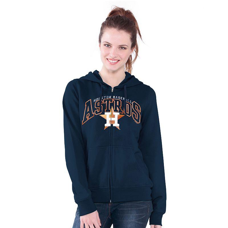 Houston Astros Wildcat Fleece Hoodie - Women's