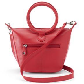 ili Leather Double-Ring Crossbody Bag