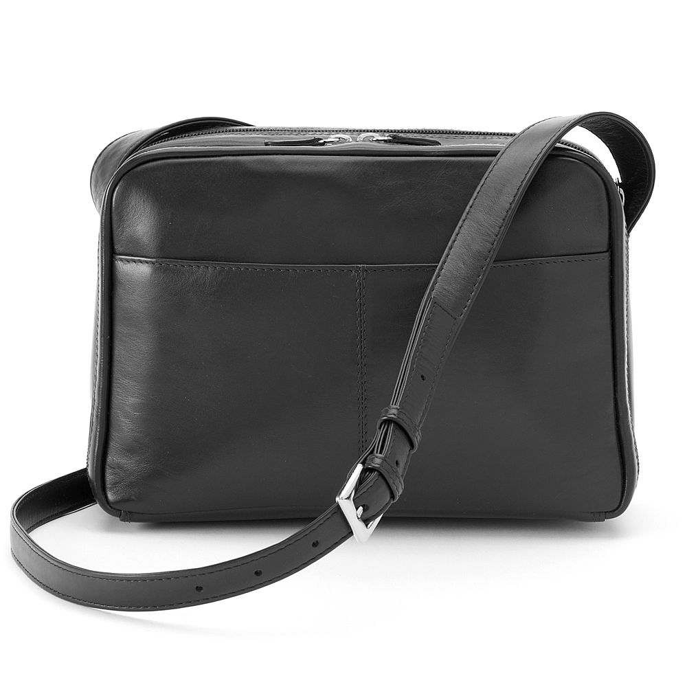 Leather Organizer Crossbody Bag