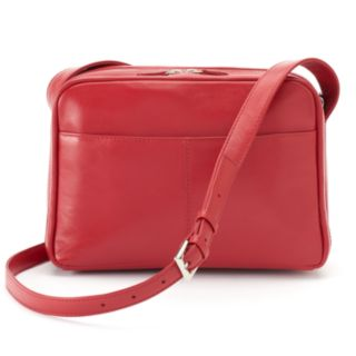 ili Leather Organizer Crossbody Bag