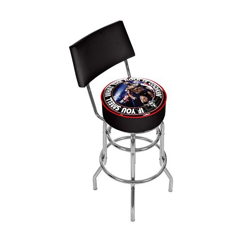 Phenomenal Wwe The Rock Padded Swivel Bar Stool With Back Machost Co Dining Chair Design Ideas Machostcouk