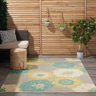 Nourison Home & Garden Floral II Indoor Outdoor Rug