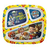 Zak Designs Paw Patrol Kid's 8-in. Melamine Divided Plate