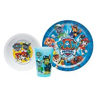 Zak Designs Paw Patrol Kid's 3 pc Dinnerware Set