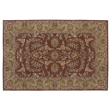 Nourison India House Rust Wool Rug