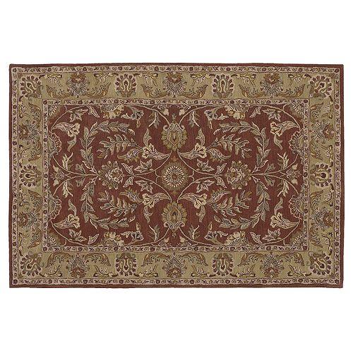 Nourison India House Rust Wool Rug